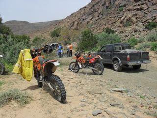 Moto au Maroc: Vehicule d'assistance moto