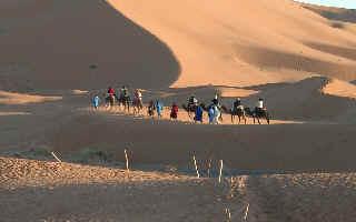 jour de l'an 2009 Maroc: Dunes de l' erg Chebbi
